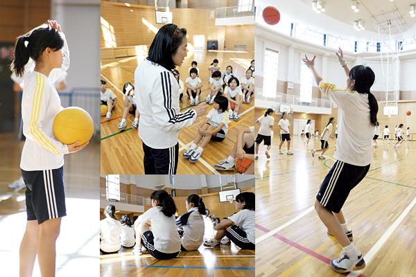 愛着、ひいては愛校心を育む体操服。体育行事では学年カラーで協調性を発揮する。