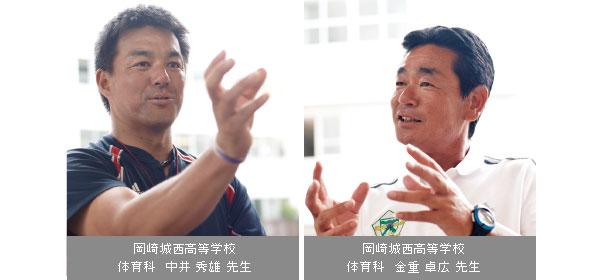 体育科 中井 秀雄 先生/体育科 金重 卓広 先生